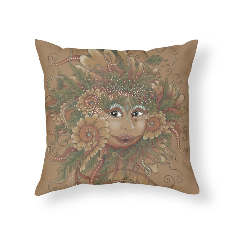Sunshine Home Throw Pillow by Ruby Charm Colors Artist Shop
