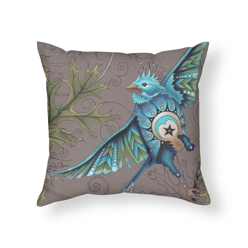 "Ruby Charm Colors ""Little Bird"" in Throw Pillow by Ruby Charm Colors Artist Shop"