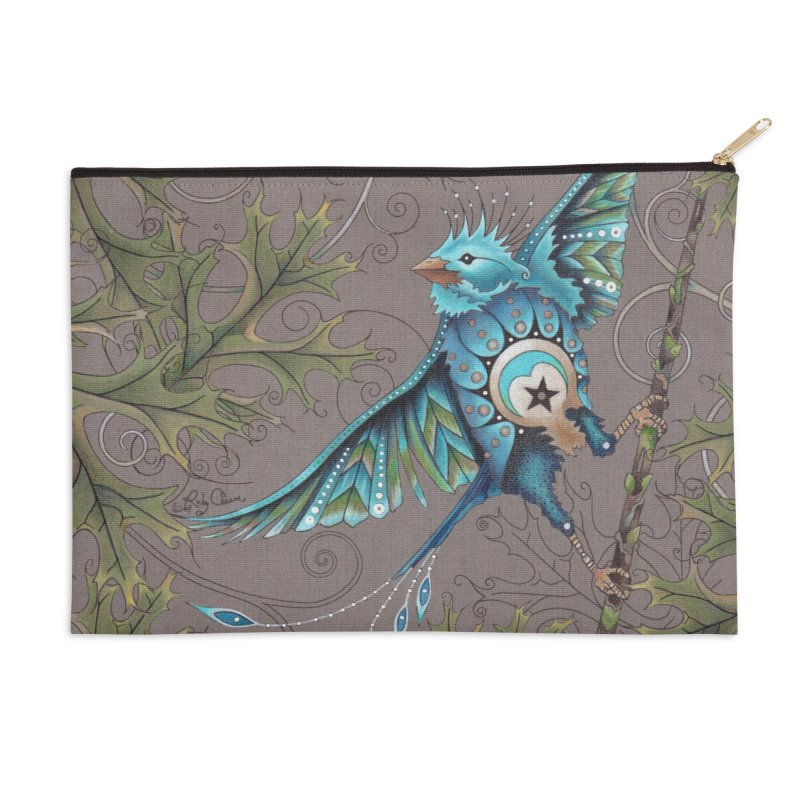 """Ruby Charm Colors """"Little Bird"""" Accessories Zip Pouch by Ruby Charm Colors Artist Shop"""