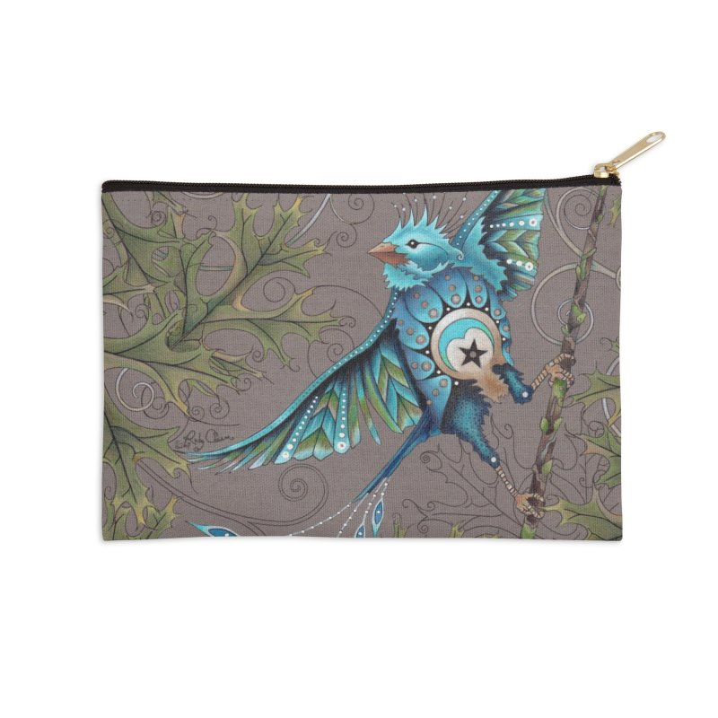 """Ruby Charm Colors """"Little Bird"""" in Zip Pouch by Ruby Charm Colors Artist Shop"""