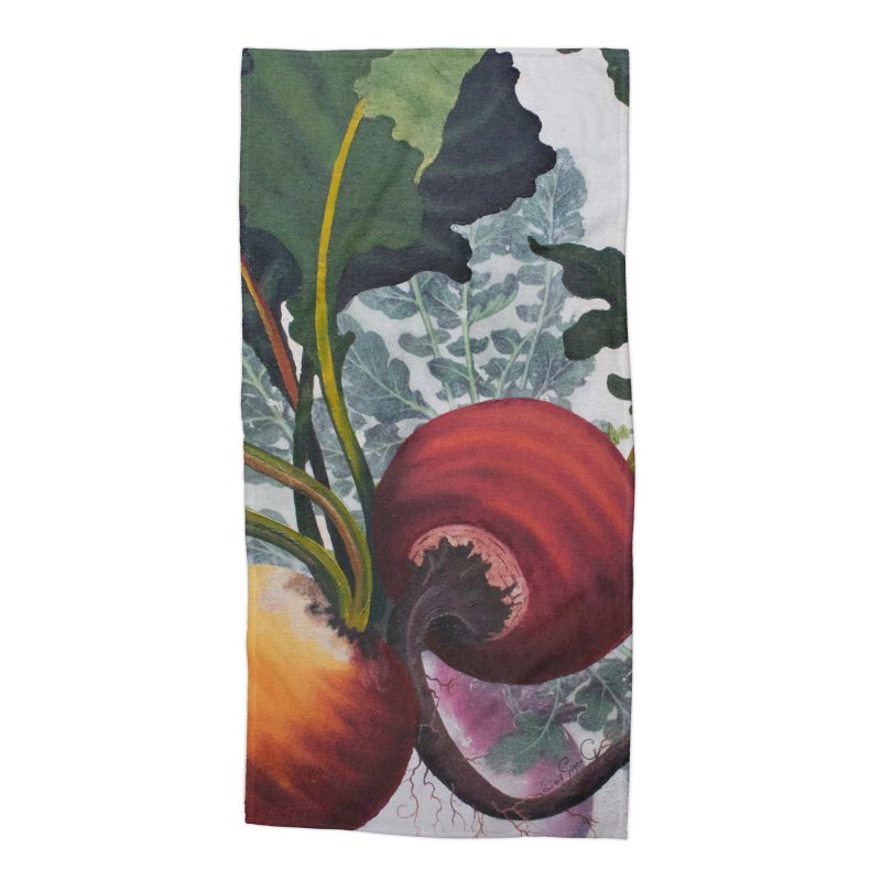 "Garden Goods ""Eat Up Your Beets"" Accessories Beach Towel by Ruby Charm Colors Artist Shop"