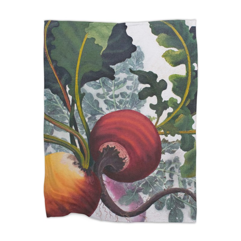 """Garden Goods """"Eat Up Your Beets"""" Home Blanket by Ruby Charm Colors Artist Shop"""