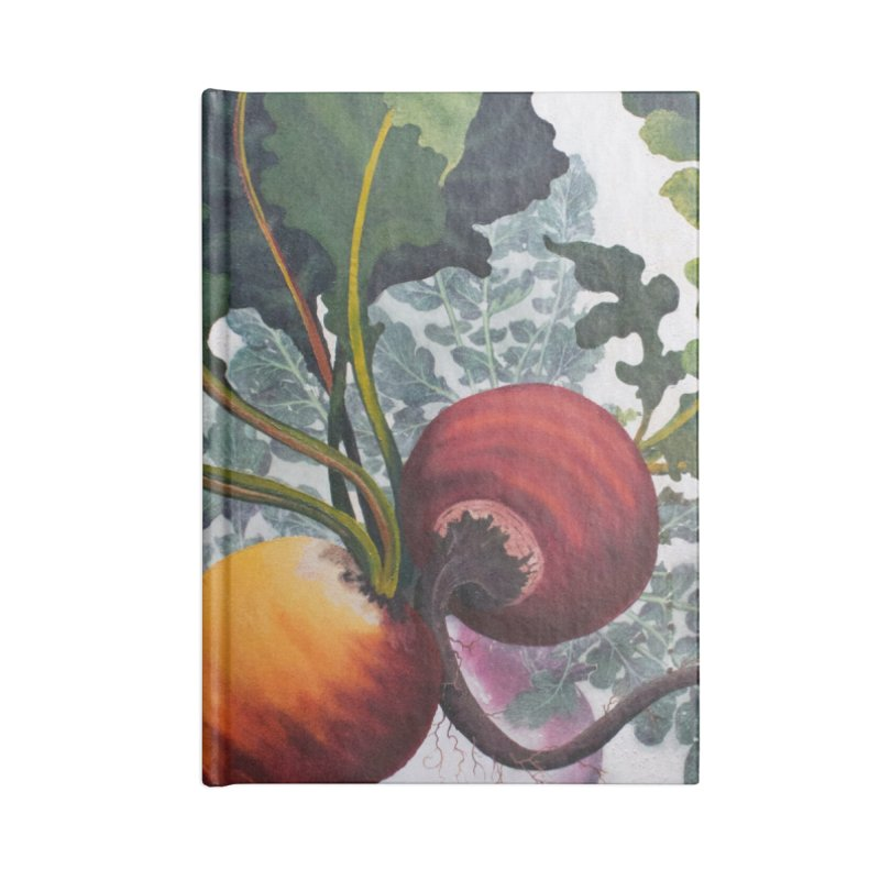 """Garden Goods """"Eat Up Your Beets"""" Accessories Lined Journal Notebook by Ruby Charm Colors Artist Shop"""