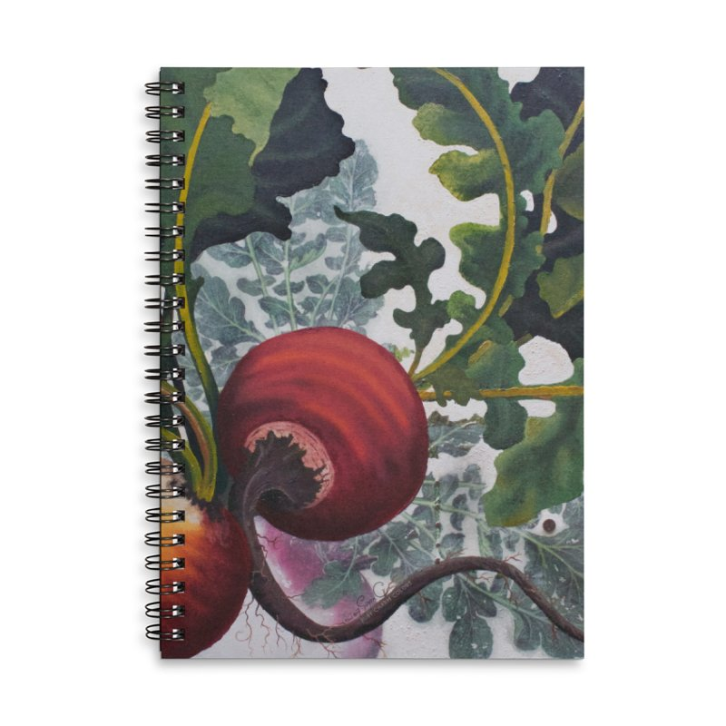 "Garden Goods ""Eat Up Your Beets"" Accessories Lined Spiral Notebook by Ruby Charm Colors Artist Shop"