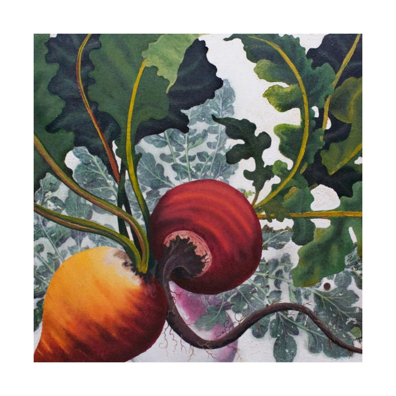 """Garden Goods """"Eat Up Your Beets"""" Home Mounted Acrylic Print by Ruby Charm Colors Artist Shop"""