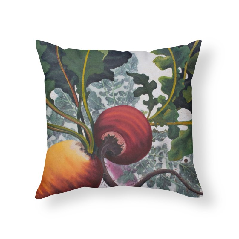 """Garden Goods """"Eat Up Your Beets"""" in Throw Pillow by Ruby Charm Colors Artist Shop"""