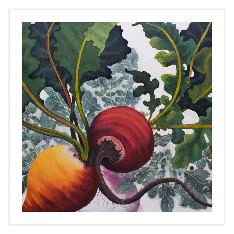 """Garden Goods """"Eat Up Your Beets"""" Home Fine Art Print by Ruby Charm Colors Artist Shop"""