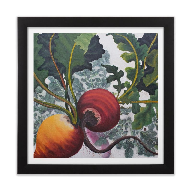 "Garden Goods ""Eat Up Your Beets"" in Framed Fine Art Print Black by Ruby Charm Colors Artist Shop"