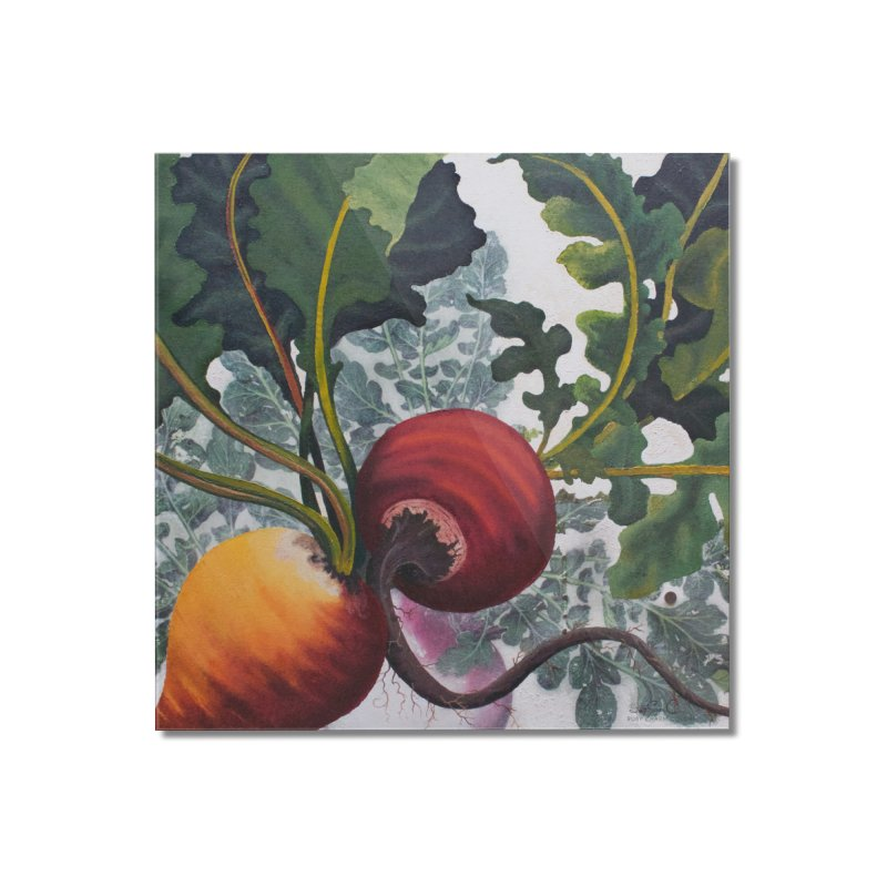 "Garden Goods ""Eat Up Your Beets"" Home Mounted Acrylic Print by Ruby Charm Colors Artist Shop"