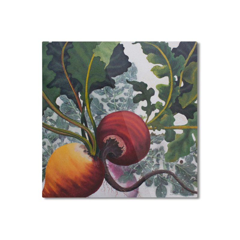 "Garden Goods ""Eat Up Your Beets"" Home Mounted Aluminum Print by Ruby Charm Colors Artist Shop"