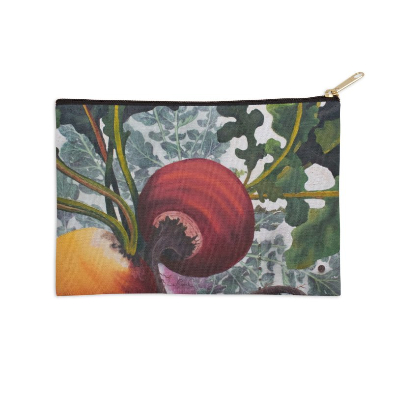 """Garden Goods """"Eat Up Your Beets"""" in Zip Pouch by Ruby Charm Colors Artist Shop"""