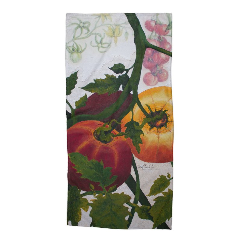 """Garden Goods """"You Say Tomato"""" Accessories Beach Towel by Ruby Charm Colors Artist Shop"""