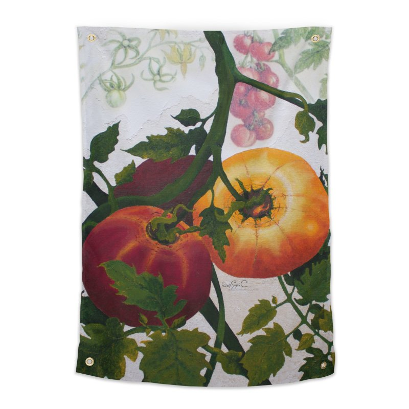 """Garden Goods """"You Say Tomato"""" Home Tapestry by Ruby Charm Colors Artist Shop"""