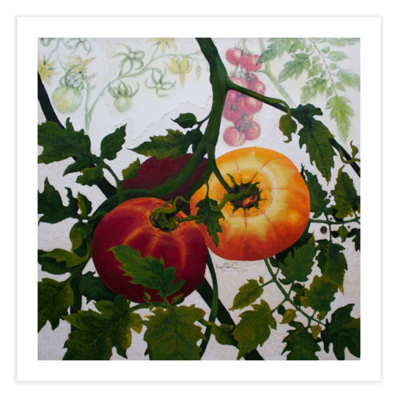"""Garden Goods """"You Say Tomato"""" Home Fine Art Print by Ruby Charm Colors Artist Shop"""