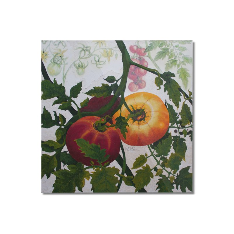 """Garden Goods """"You Say Tomato"""" Home Mounted Acrylic Print by Ruby Charm Colors Artist Shop"""
