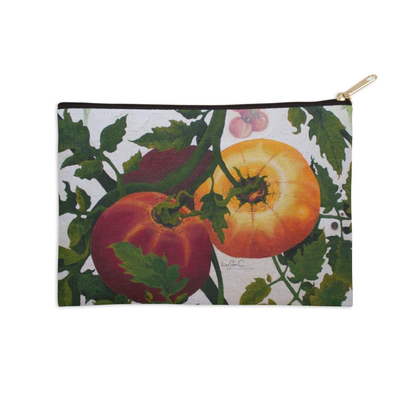 "Garden Goods ""You Say Tomato"" Accessories Zip Pouch by Ruby Charm Colors Artist Shop"