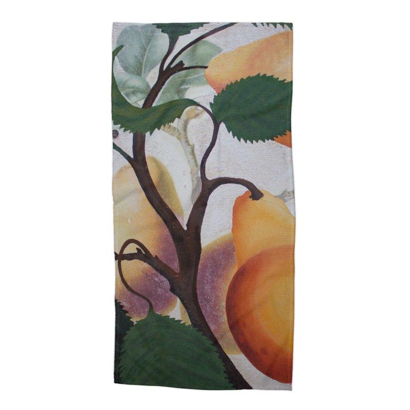 "Garden Goods ""Grow a Pear"" Accessories Beach Towel by Ruby Charm Colors Artist Shop"