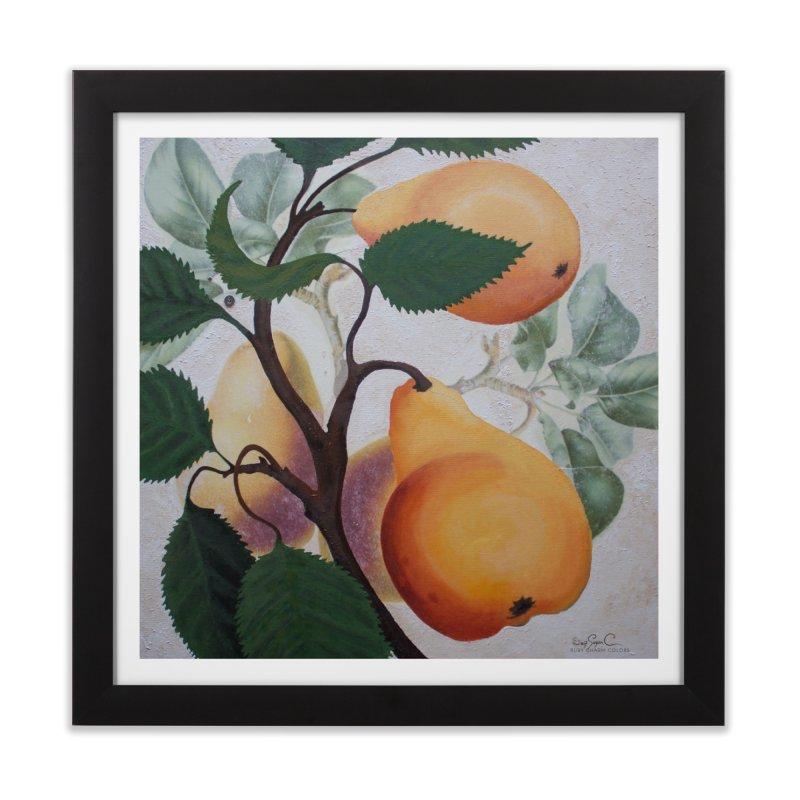 "Garden Goods ""Grow a Pear"" in Framed Fine Art Print Black by Ruby Charm Colors Artist Shop"