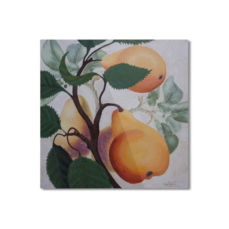 "Garden Goods ""Grow a Pear"" Home Mounted Aluminum Print by Ruby Charm Colors Artist Shop"