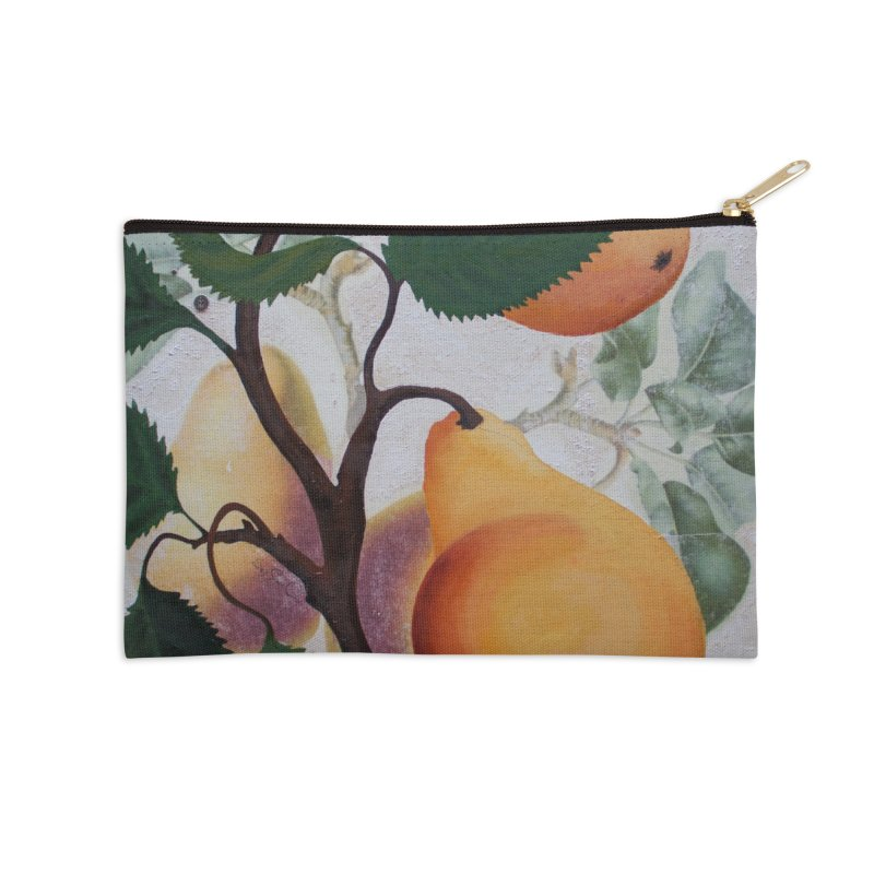 "Garden Goods ""Grow a Pear"" Accessories Zip Pouch by Ruby Charm Colors Artist Shop"