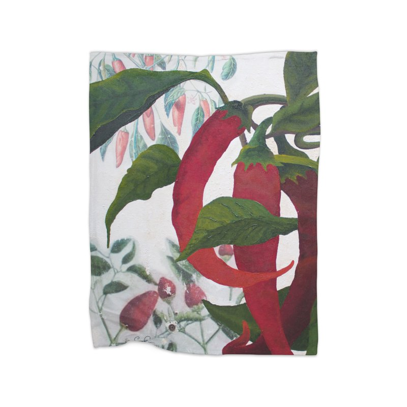 "Garden Goods ""Picked a Pepper"" Home Fleece Blanket Blanket by Ruby Charm Colors Artist Shop"