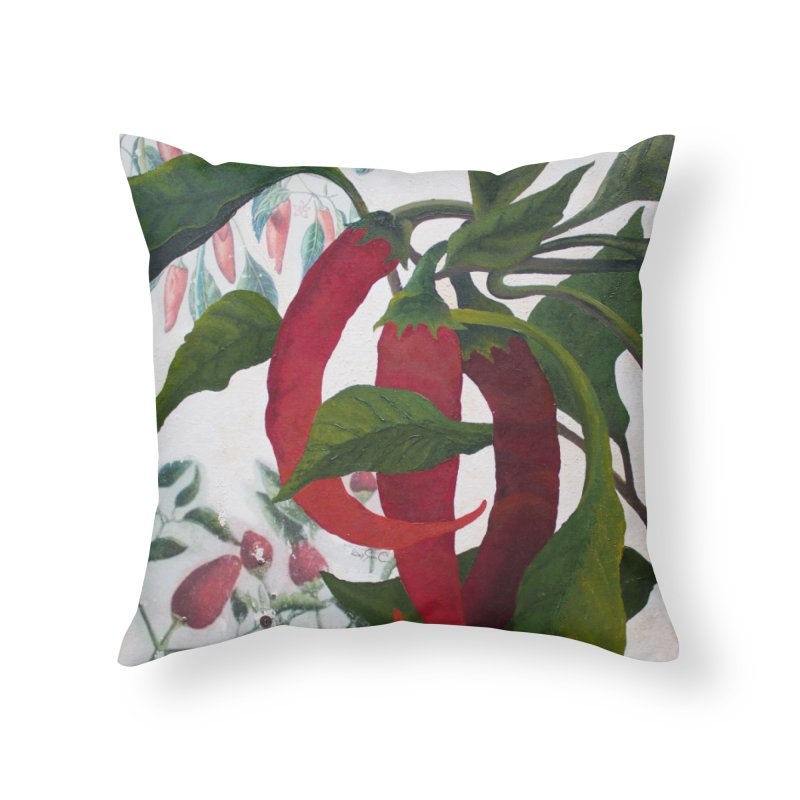 "Garden Goods ""Picked a Pepper"" Home Throw Pillow by Ruby Charm Colors Artist Shop"