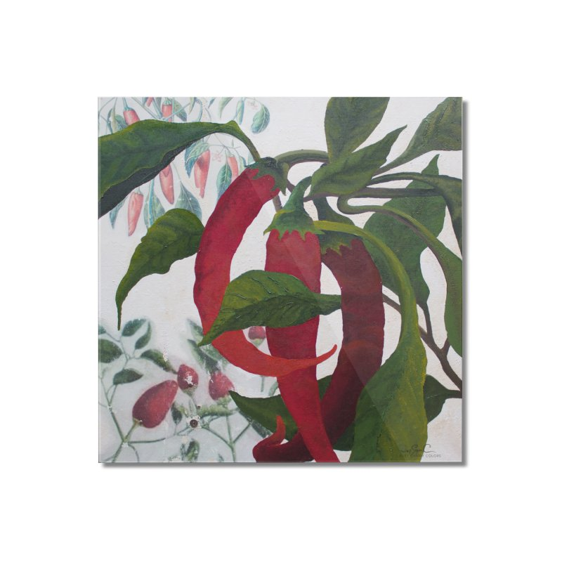 """Garden Goods """"Picked a Pepper"""" Home Mounted Acrylic Print by Ruby Charm Colors Artist Shop"""