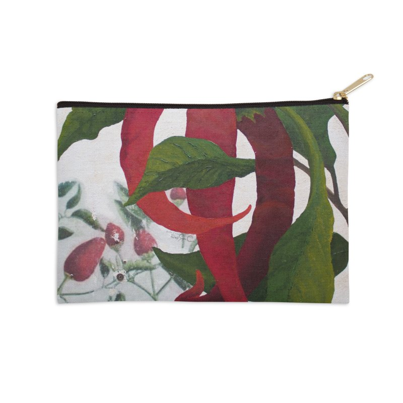 "Garden Goods ""Picked a Pepper"" Accessories Zip Pouch by Ruby Charm Colors Artist Shop"