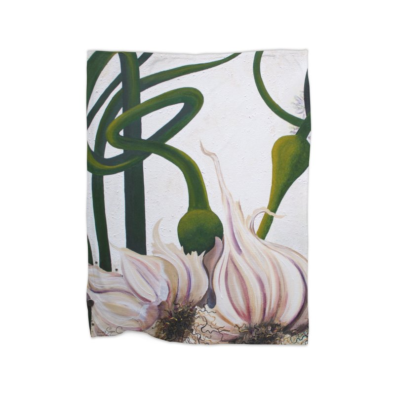 "Garden Goods ""Garlic Escapes"" Home Fleece Blanket Blanket by Ruby Charm Colors Artist Shop"
