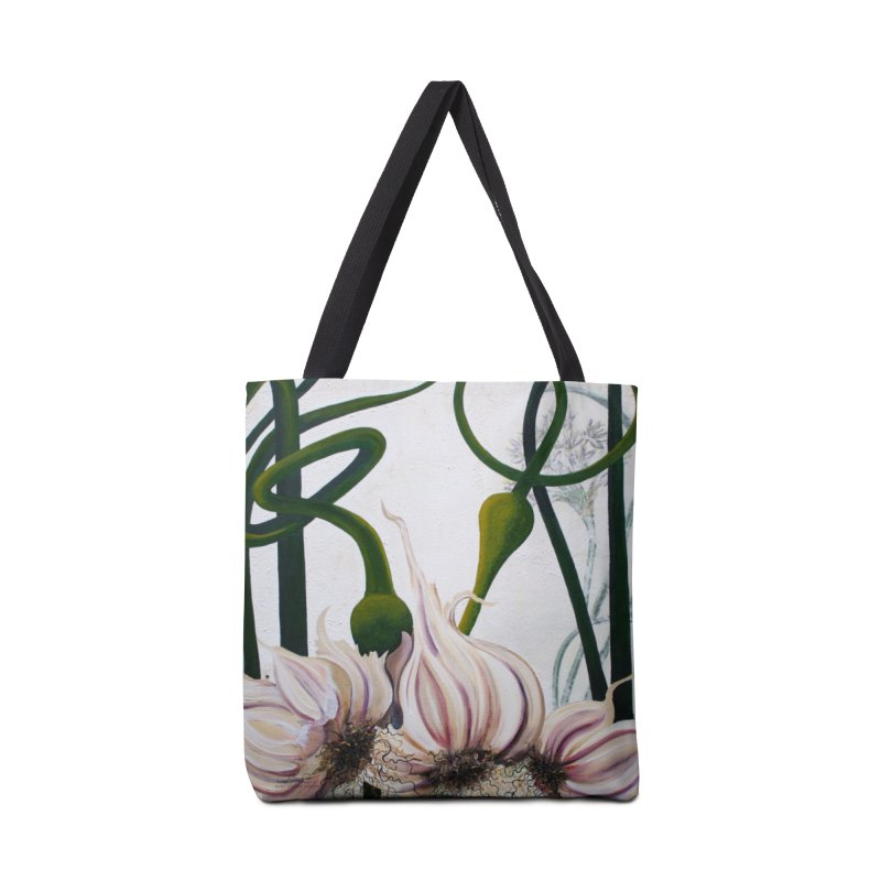 """Garden Goods """"Garlic Escapes"""" Accessories Bag by Ruby Charm Colors Artist Shop"""