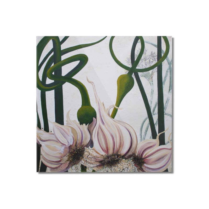 """Garden Goods """"Garlic Escapes"""" Home Mounted Acrylic Print by Ruby Charm Colors Artist Shop"""
