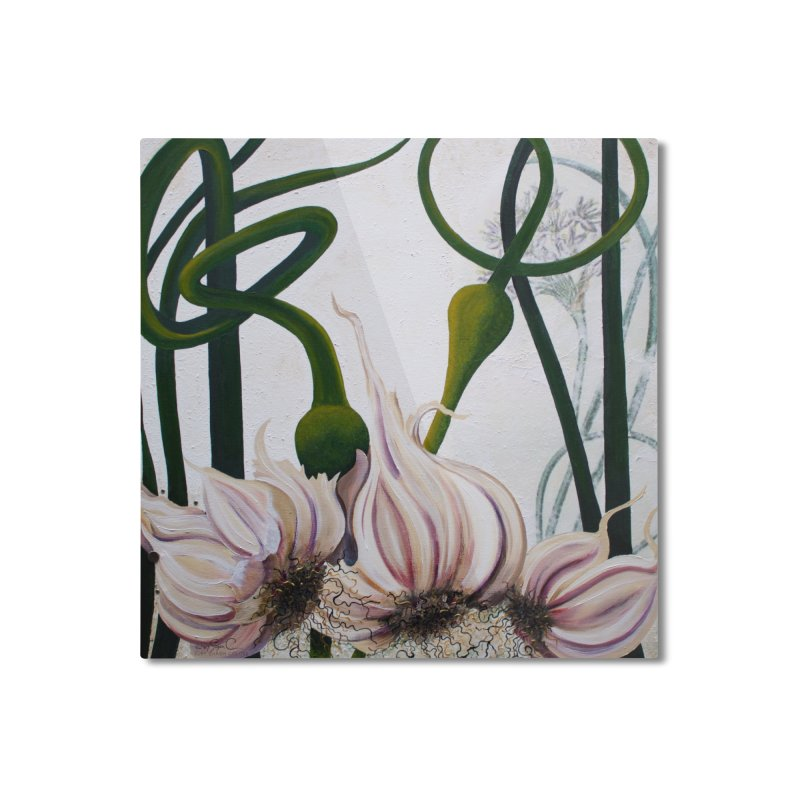 "Garden Goods ""Garlic Escapes"" Home Mounted Aluminum Print by Ruby Charm Colors Artist Shop"