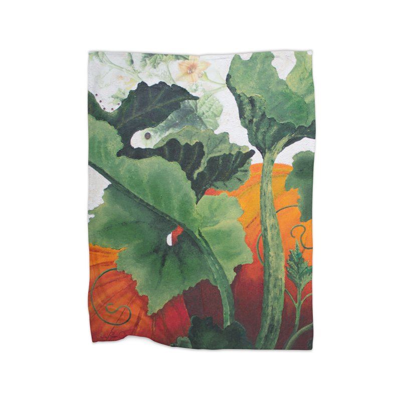"Garden Goods ""Turn Into a Pumpkin"" Home Fleece Blanket Blanket by Ruby Charm Colors Artist Shop"