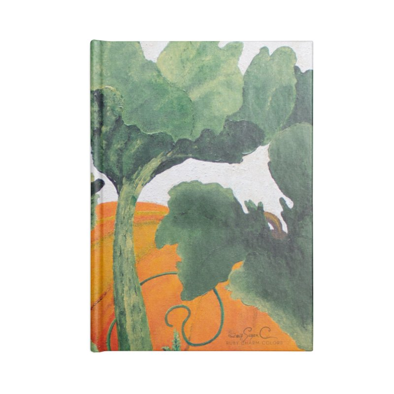 "Garden Goods ""Turn Into a Pumpkin"" Accessories Notebook by Ruby Charm Colors Artist Shop"
