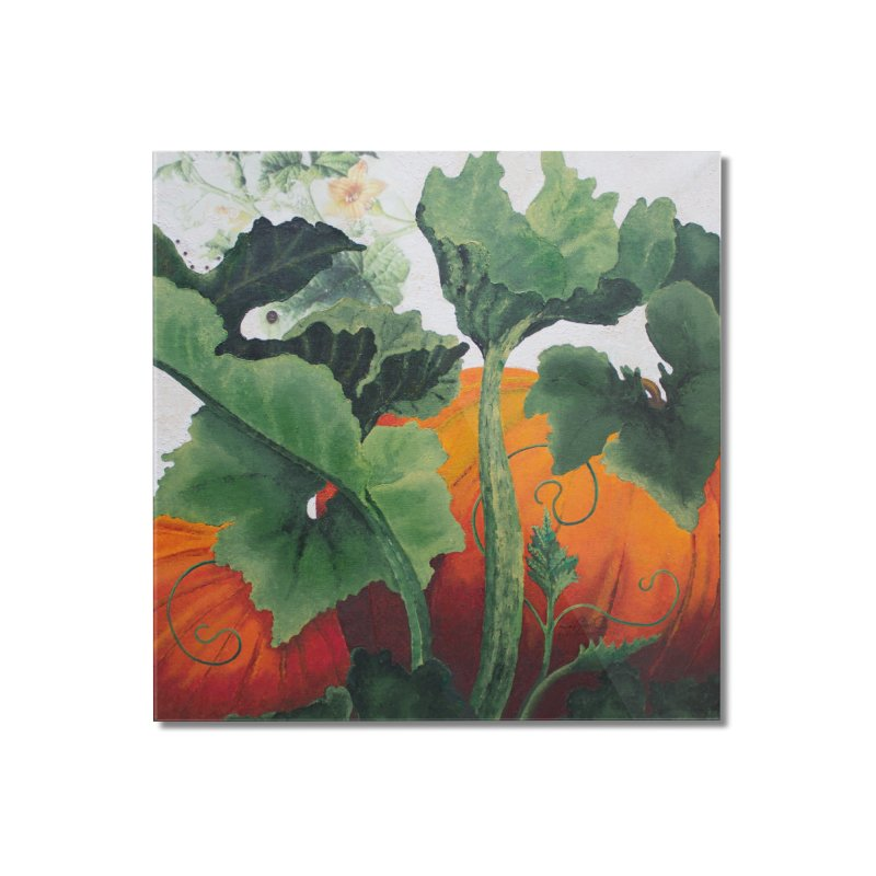 """Garden Goods """"Turn Into a Pumpkin"""" Home Mounted Acrylic Print by Ruby Charm Colors Artist Shop"""