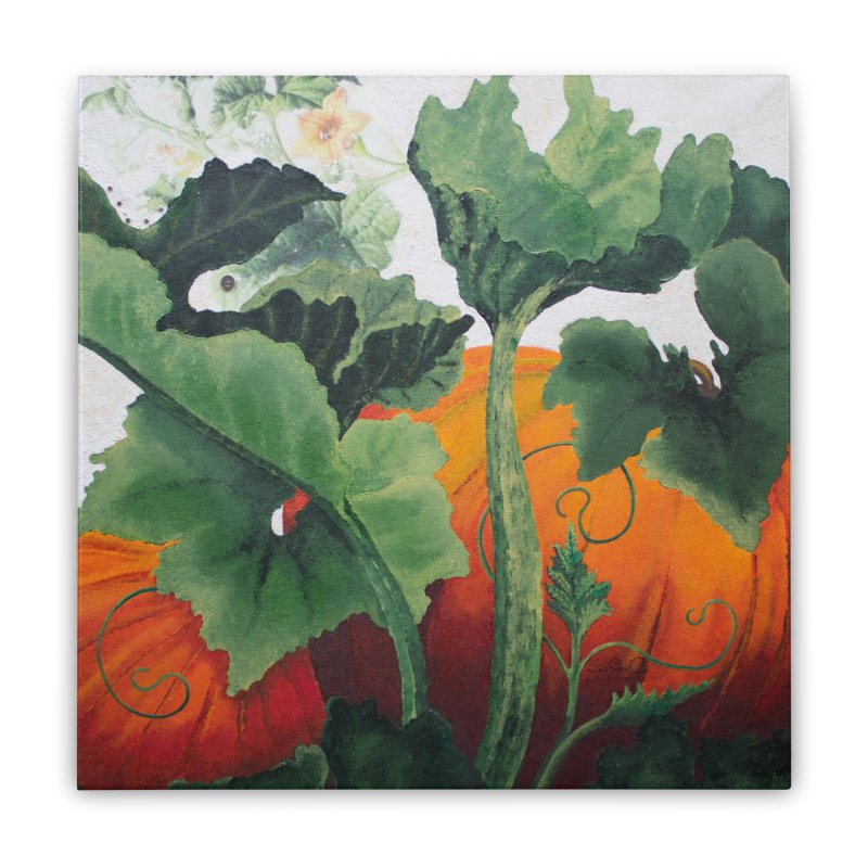 """Garden Goods """"Turn Into a Pumpkin"""" Home Stretched Canvas by Ruby Charm Colors Artist Shop"""