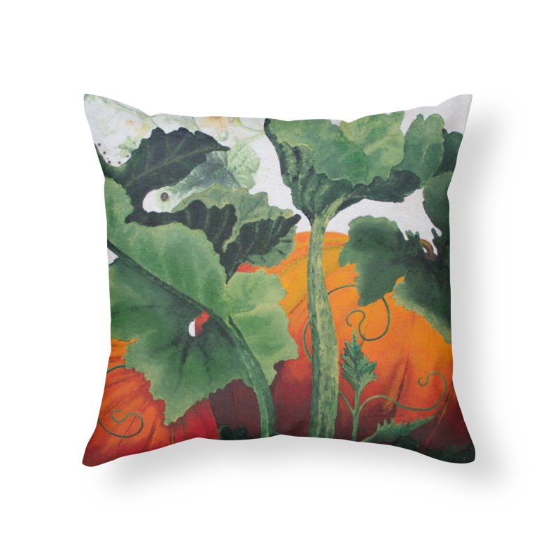 """Garden Goods """"Turn Into a Pumpkin"""" in Throw Pillow by Ruby Charm Colors Artist Shop"""