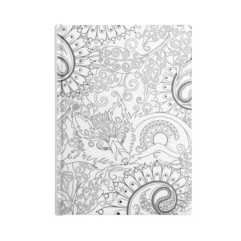 DIY Color Your Own Paisley Fox Spiral Notebook and Tote Bag Accessories Blank Journal Notebook by Ruby Charm Colors Artist Shop