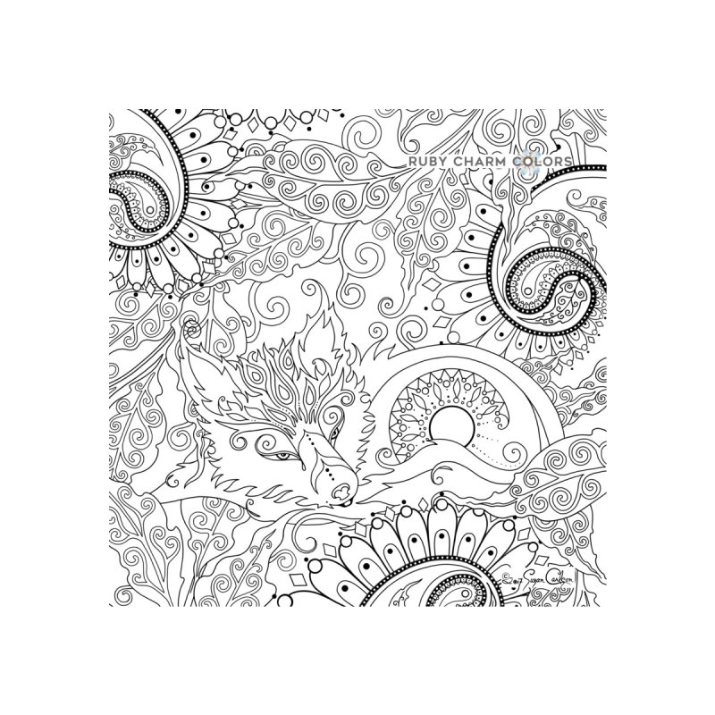 DIY Color Your Own Paisley Fox Spiral Notebook and Tote Bag Accessories Notebook by Ruby Charm Colors Artist Shop