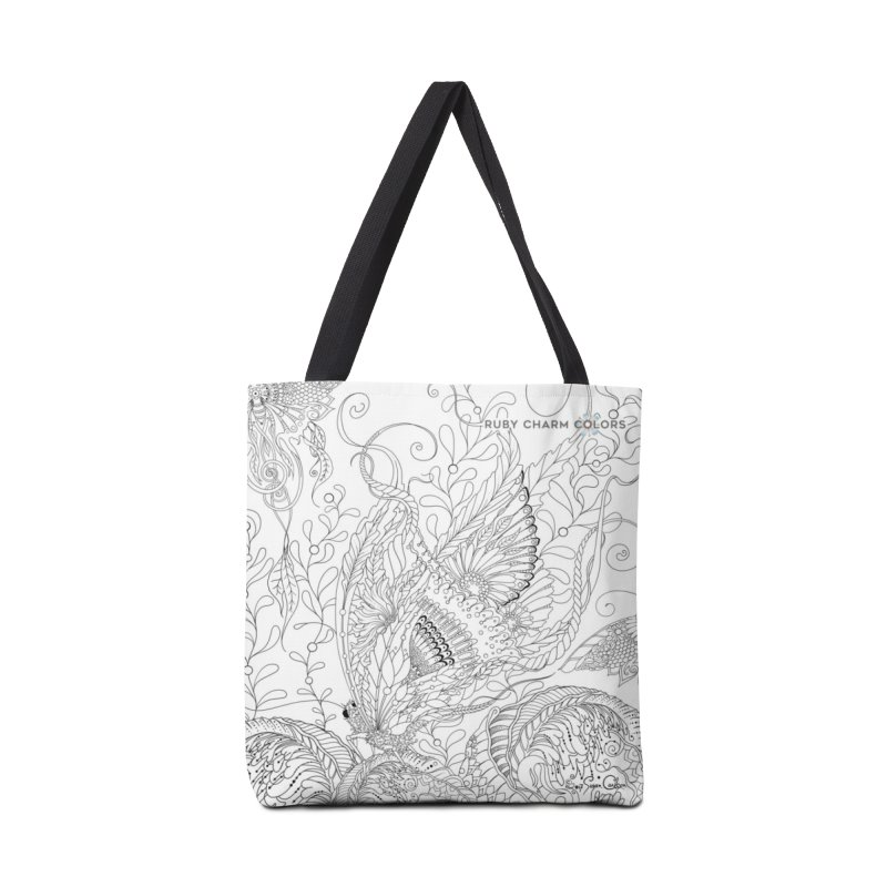 DIY Color Your Own Butterfly Spheres Spiral Notebook and Tote Bag Accessories Tote Bag Bag by Ruby Charm Colors Artist Shop