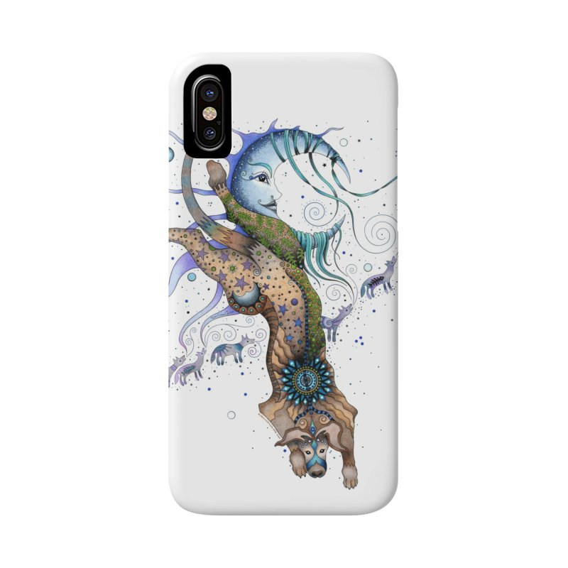 Bo Dog and the Moon Accessories Phone Case by Ruby Charm Colors Artist Shop