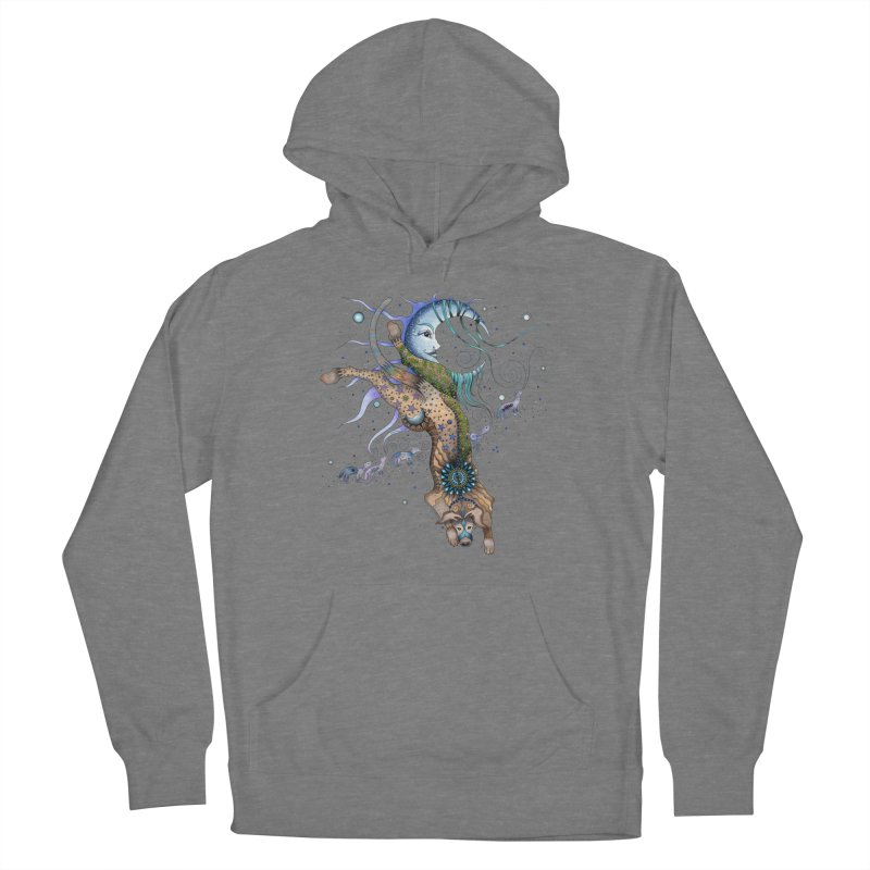 Bo Dog and the Moon Women's Pullover Hoody by Ruby Charm Colors Artist Shop