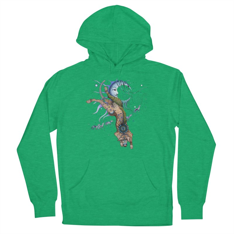 Bo Dog and the Moon Men's Pullover Hoody by Ruby Charm Colors Artist Shop