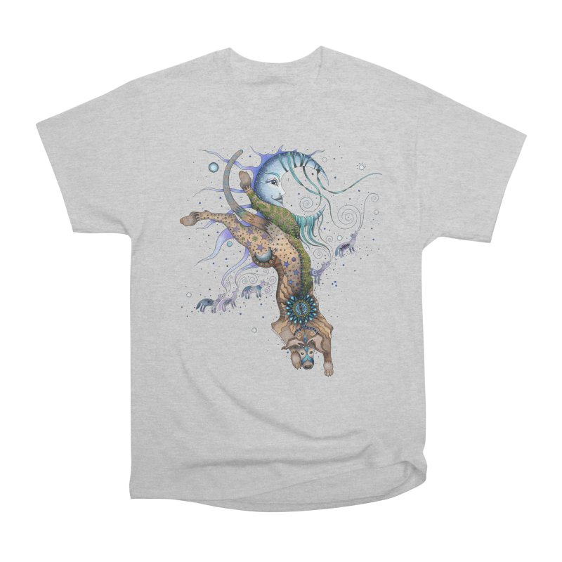 Bo Dog and the Moon Men's T-Shirt by Ruby Charm Colors Artist Shop