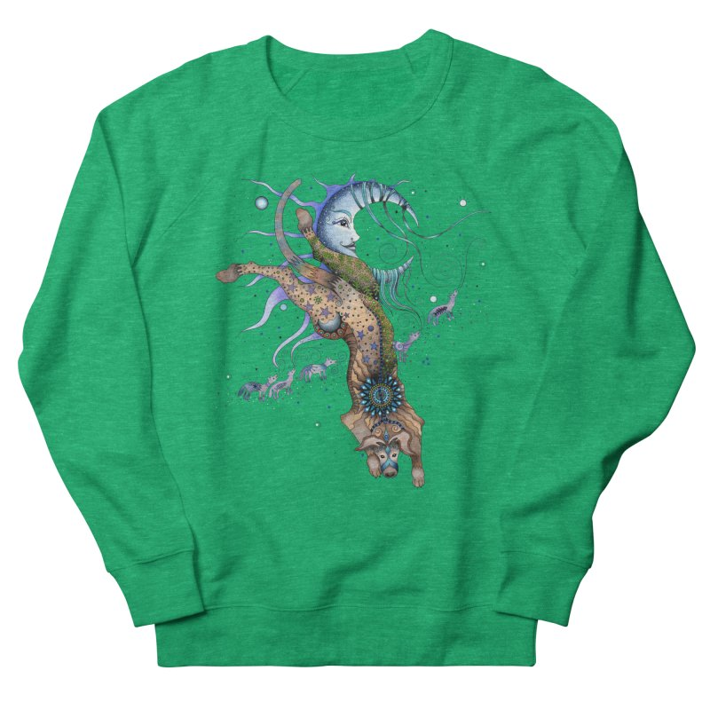 Bo Dog and the Moon Women's Sweatshirt by Ruby Charm Colors Artist Shop