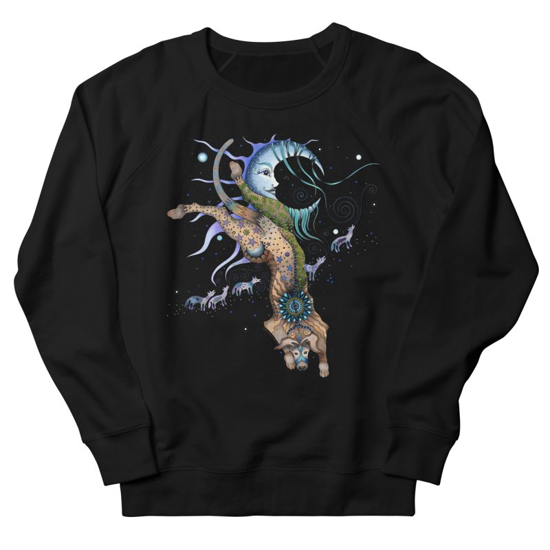 Bo Dog and the Moon Women's French Terry Sweatshirt by Ruby Charm Colors Artist Shop