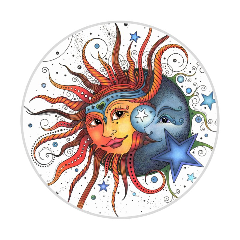 Ruby Charm's Sun & Moon Accessories Zip Pouch by Ruby Charm Colors Artist Shop