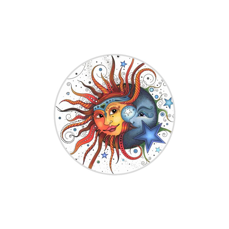 Ruby Charm's Sun & Moon Accessories Bag by Ruby Charm Colors Artist Shop
