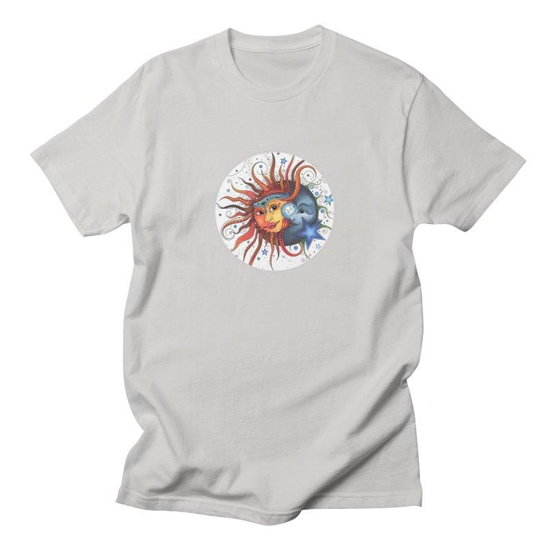 Ruby Charm's Sun & Moon Men's T-Shirt by Ruby Charm Colors Artist Shop