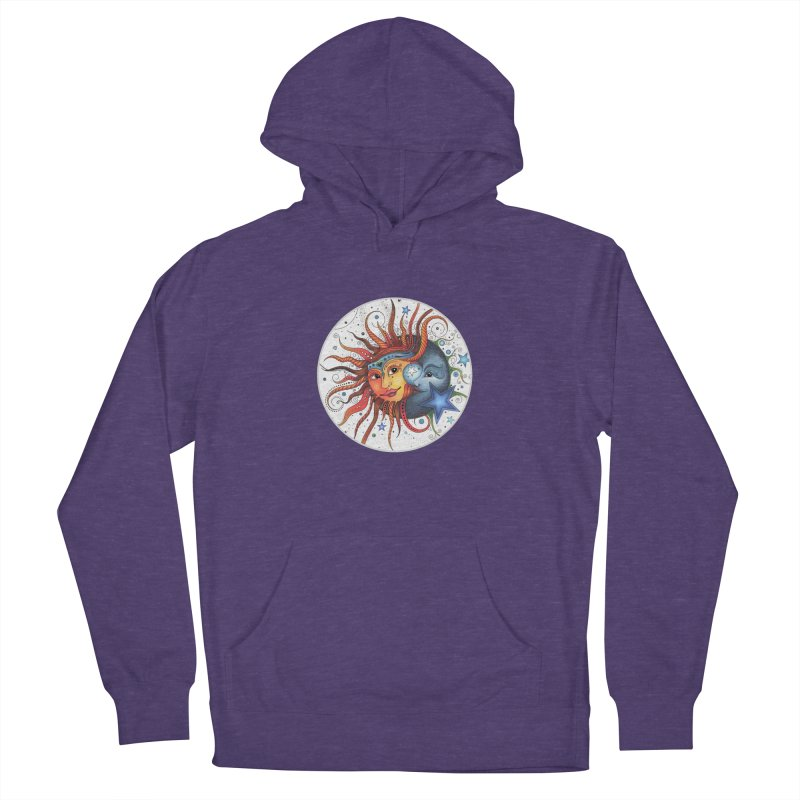 Ruby Charm's Sun & Moon Women's French Terry Pullover Hoody by Ruby Charm Colors Artist Shop